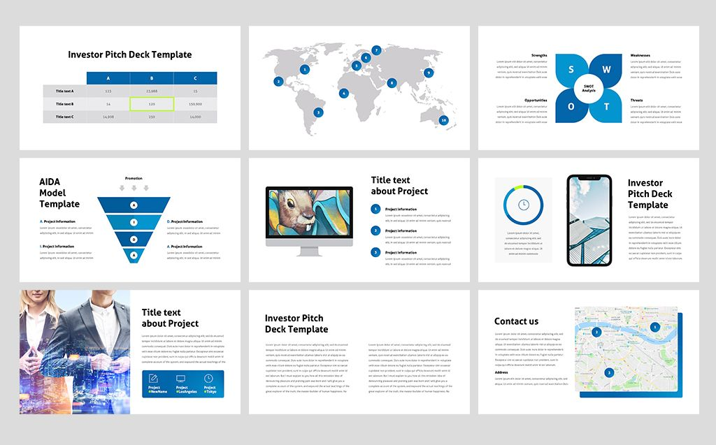 Investor Pitch Deck PowerPoint Template 74373