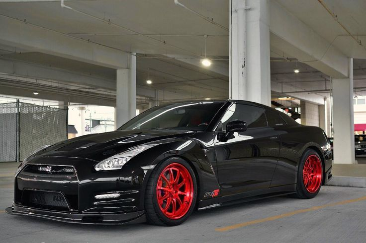 Clear Lake Vw >> Nissan GT-R, Red Rims, Black, Speed, Cars, Nissan | Nissan ...