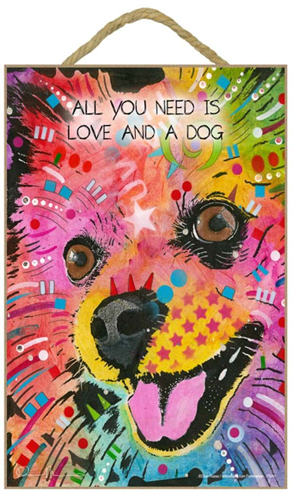 Dachshund Sign All You Need is Love /& a Dog 7 x 10.5