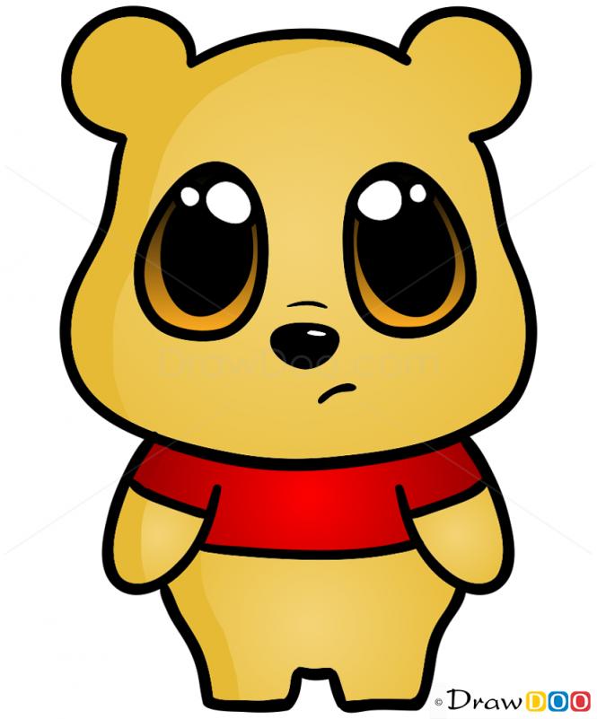 How To Draw Bear Chibi Cute Disney Characters Bear Drawing