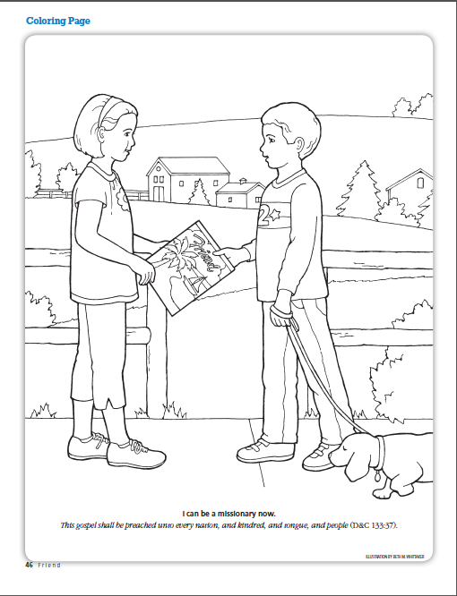 I can be a missionary now. (LDS The Friend Magazine Coloring Page ...