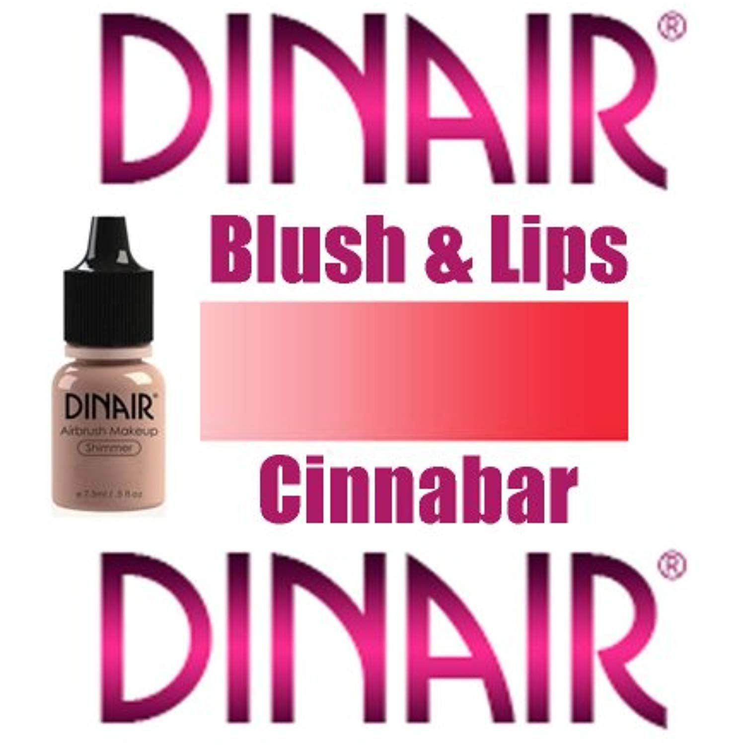 DINAIR AIRBRUSH BLUSH and LIPS MAKEUP 1 Bottle CINNABAR