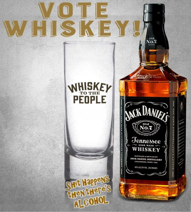 Jack Daniels. Like us on Facebook ~ Shit Happens then there's ALCOHOL!