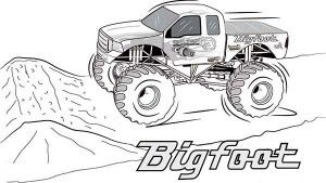 Bigfoot Monster Truck Coloring Page Truck Coloring Pages Monster Truck Coloring Pages Coloring Pages For Boys