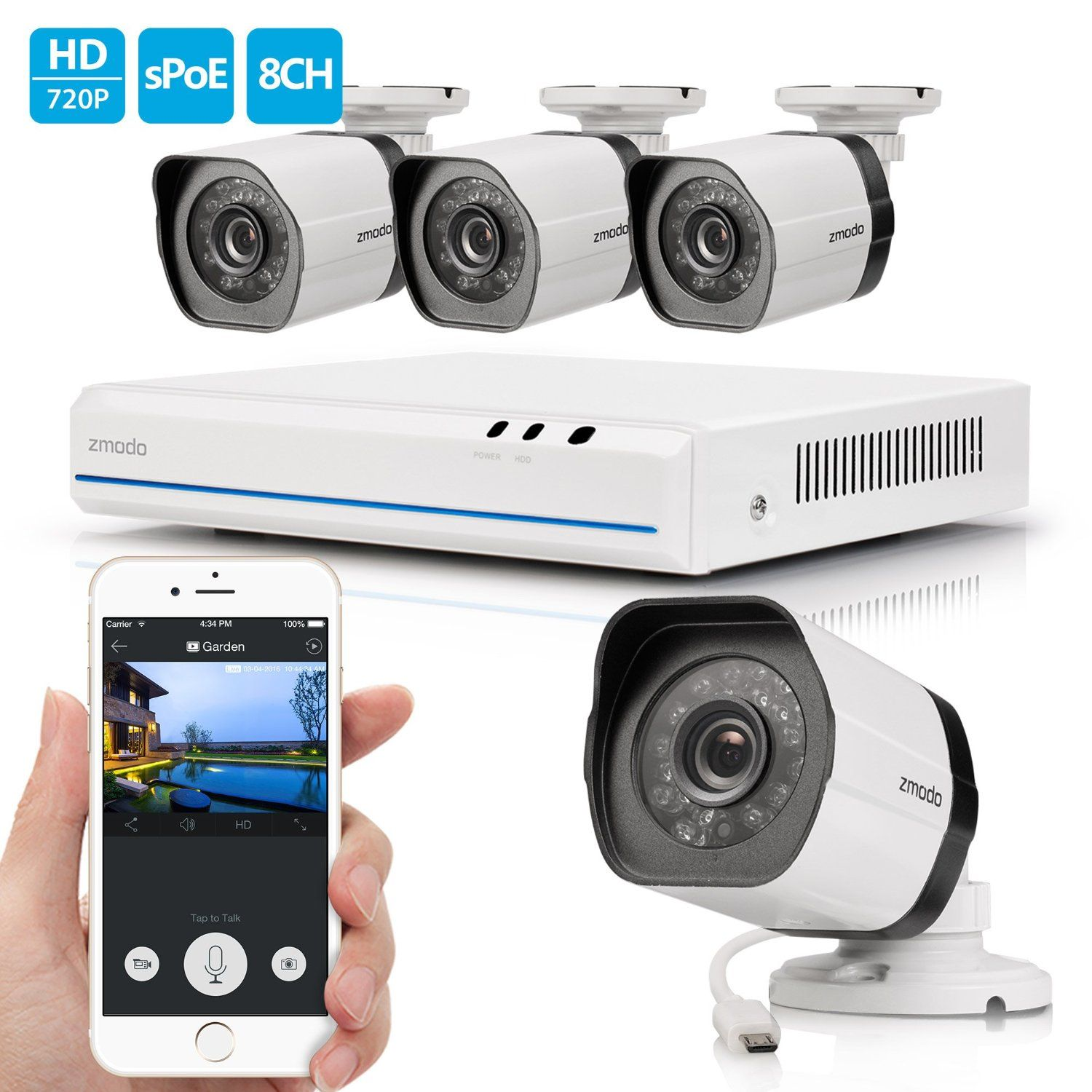 Best Outdoor Home Surveillance Security Camera Systems Reviews ...