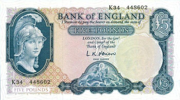 English £5 Note.
