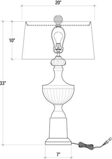Table Lamp Bramble Roman Urn Fluted Fabric Mahogany New Br 102 Contemporary Table Lamps Modern Contemporary Contemporary