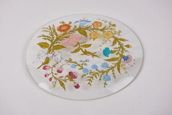 Dorothy Thorpe Glass Plate by MyAuntsPrettyChina on Etsy