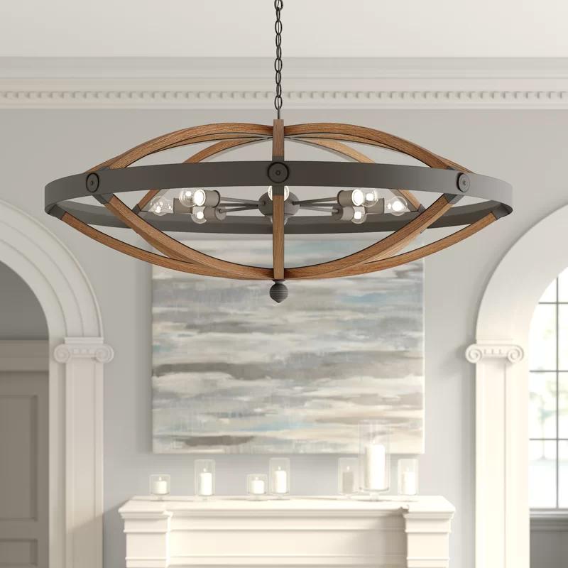 Highbank 8 Light Unique Statement Geometric Chandelier In 2020