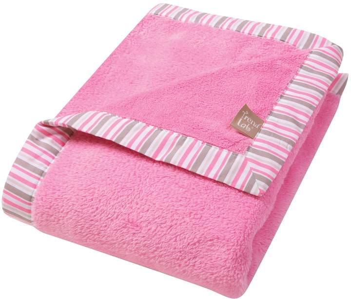 Disney Princess Cinderella Velboa Pink Plush Baby Blanket  Fleece Flower