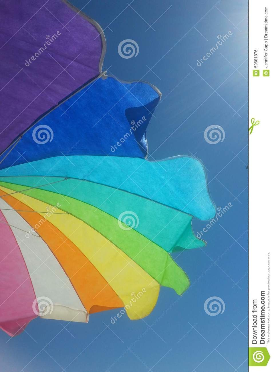 Colorful Beach Umbrella - Download From Over 36 Million High Quality Stock Photos, Images, Vectors. Sign up for FREE today. Image: 59681876