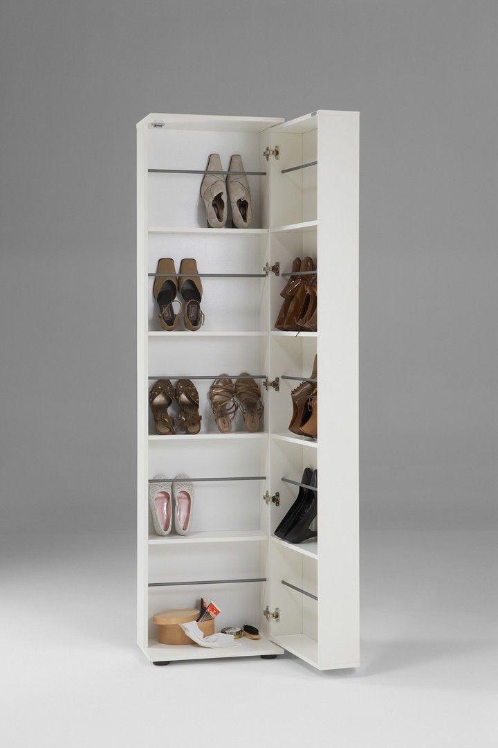 Armoire A Chaussures Contemporaine Joya Matelpro Placard Chaussure Meuble Chaussure Miroir Blanc