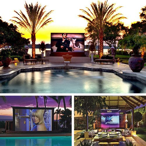 Home theatre outdoors can be a fantastic way to liven up your home. Some of the latest outdoor televisions can even be connected with rain sensors
