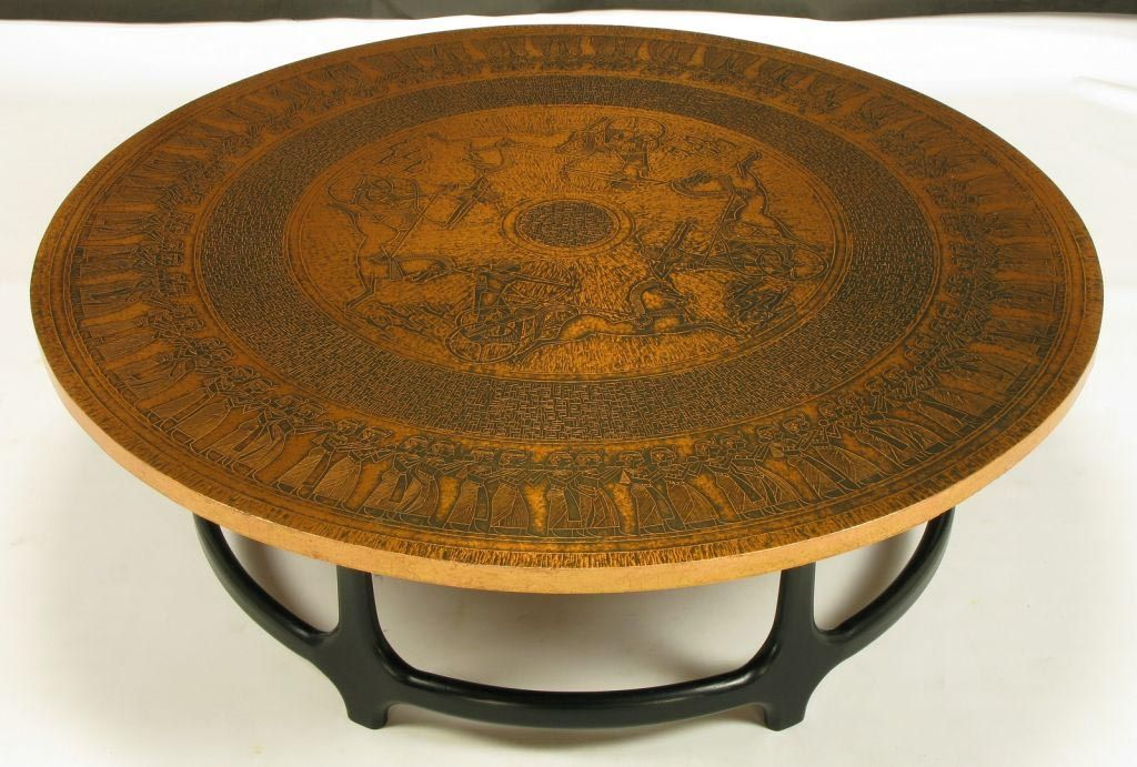 Copper Coffee Table Round