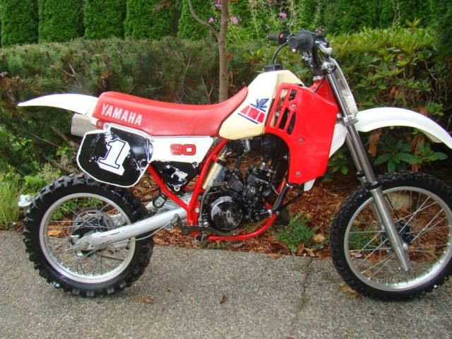 1986 Yamaha Yz80 Vintage Dirt Motorcycle Mx Bikes Bike