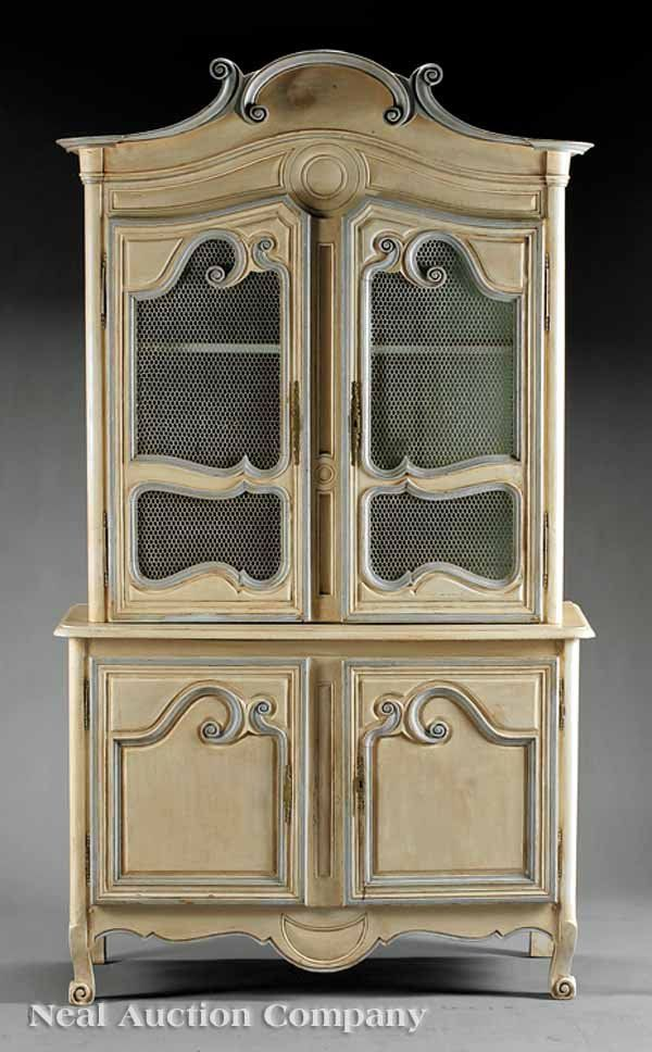 French Provinical Painted Buffet a Deux Corps