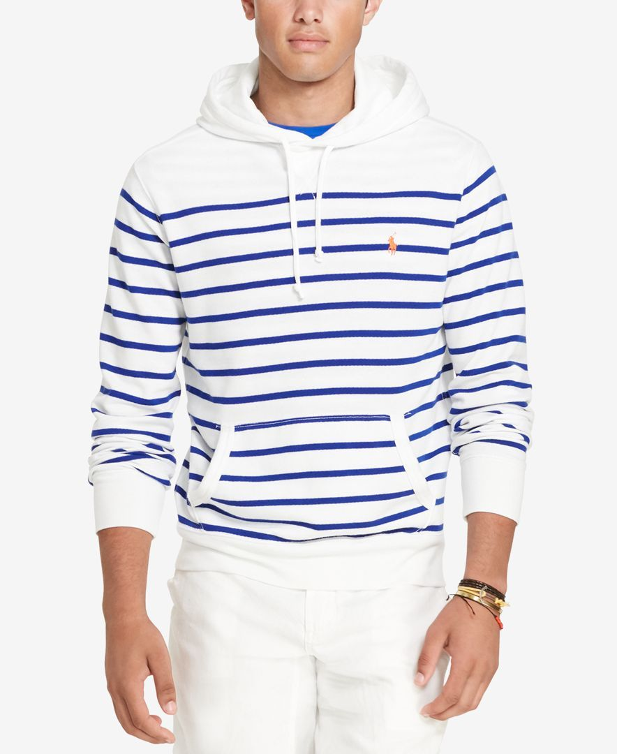 Polo Ralph Lauren Men's Striped French Terry Hoodie