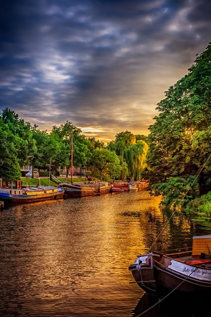 Sunset In Zwolle ~ The Netherlands ~ Photo By Matias Larhag (western Europe)