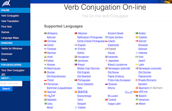 Need To Conjugate A Verb In About Whatever Language That S Verbix S Job Vous Avez Besoin De Conjuguer Un Verbe Dan Language Verb Conjugation Language Map