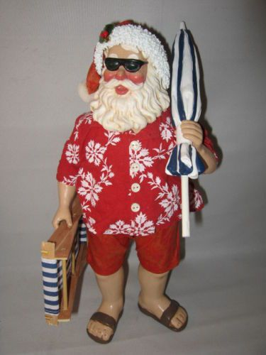 CLOTHTIQUE POSSIBLE DREAMS SUN, SURF AND SANTA FIGURE MINT IN BOX A3