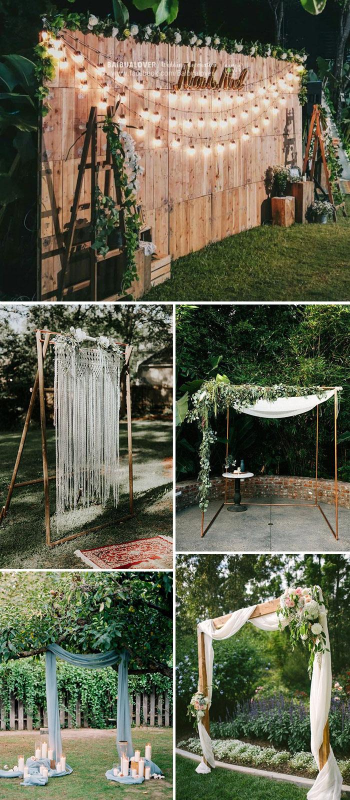 30 Ingenious Ideas For A Small Intimate Backyard Wedding On A Budget Elegantweddinginvites Com Blog Backyard Wedding Decorations Diy Backyard Wedding Small Backyard Wedding