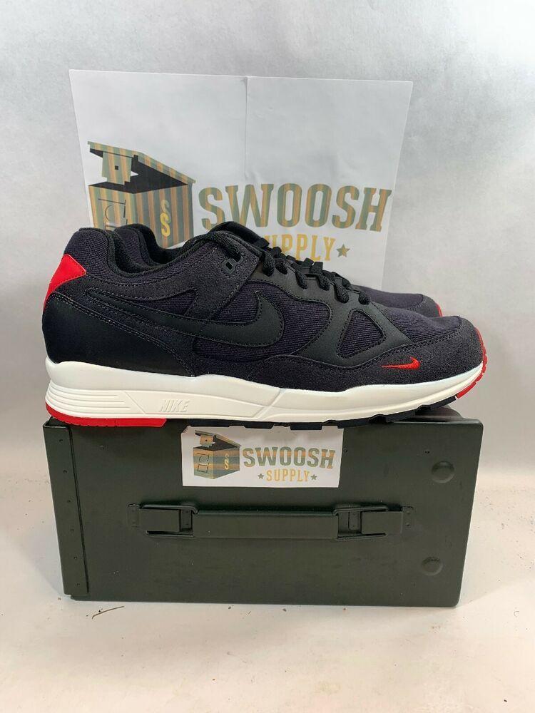 best cheap 3e885 746e8 Nike Air Span II SE AQ3120-002 Black Red White sneaker Size 12  Nike