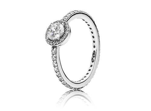 anillo solitario pandora