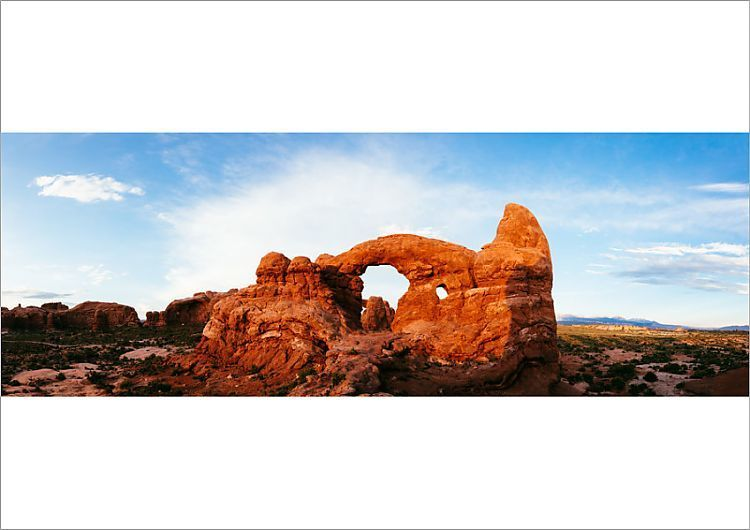 Poster Print-Turret arch at sunset, Arches NP, Utah, USA-A2 poster sized print (420x594 mm) made in the UK