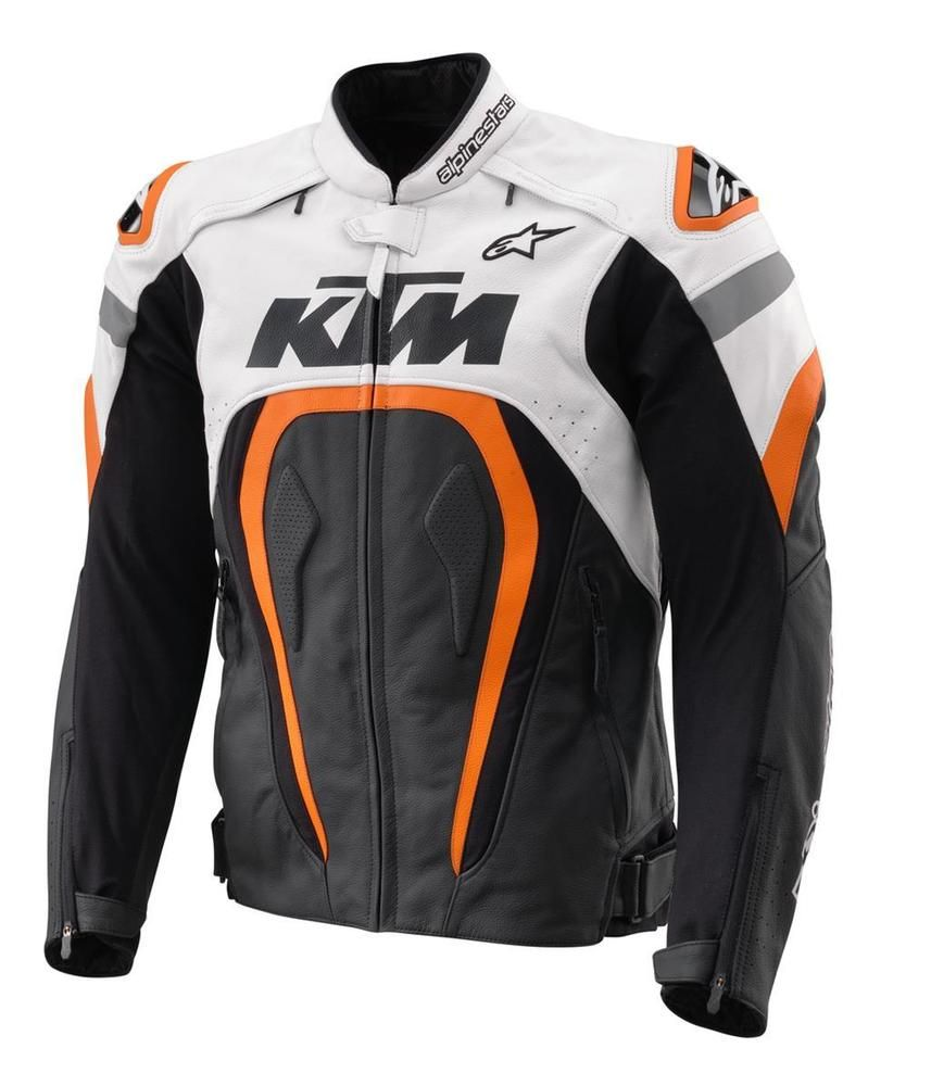 59c3f1cd04b4 KTM Motegi Alpinestars Motorcycle Sport Racing Leather Jacket All Sizes