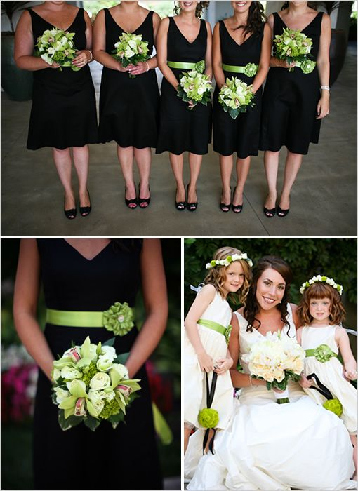 Black And Green Bridesmaids Dresses Wedding Shoes Wedding