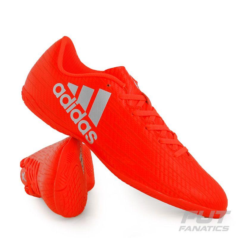 43ccf2240080a Chuteira Adidas X 16.4 IN Futsal Laranja Juvenil Somente na FutFanatics  você compra agora Chuteira Adidas X 16.4 IN Futsal Laranja Juvenil por  apenas R$ ...