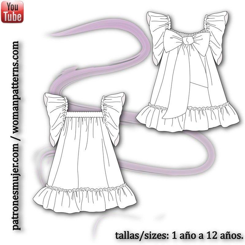 Vestido de rosas | Sewing | Pinterest | Kids clothes patterns ...
