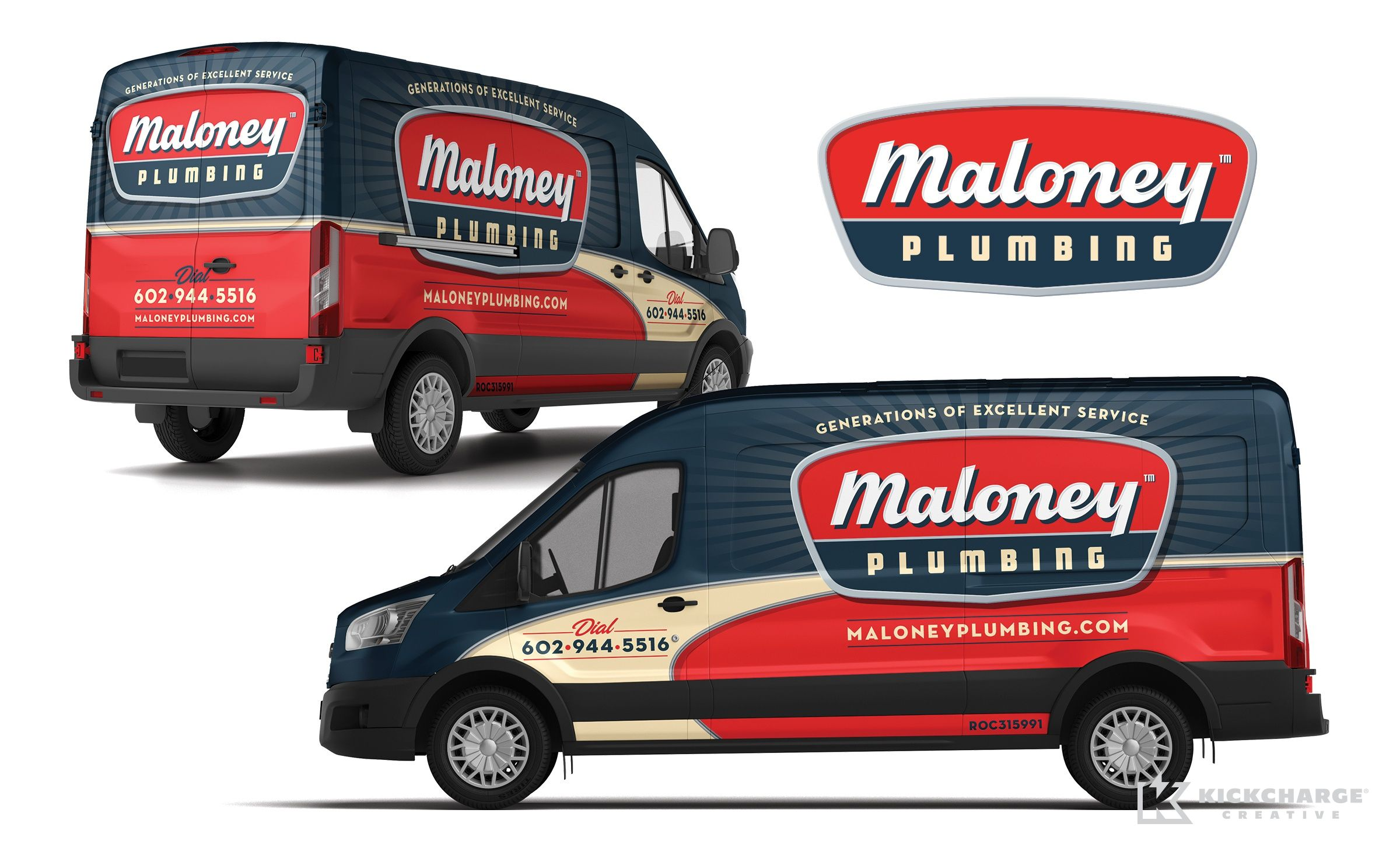 Vehicle Wrap Design For Maloney Plumbing A Plumbing Contractor In