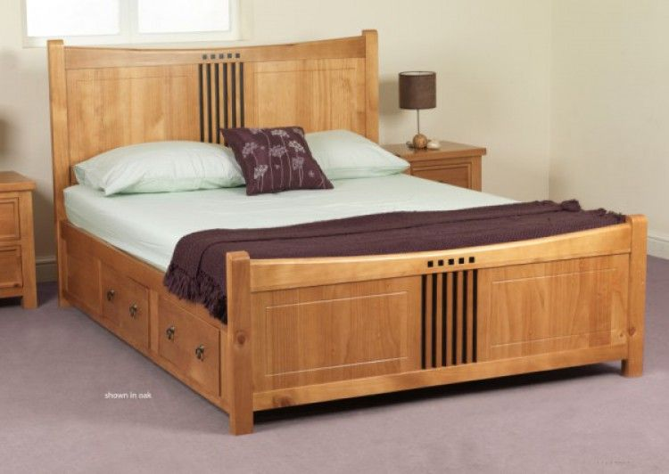 Sweet Dreams Curlew Wild Cherry King Size Pine Bed Frame With 4 Storage  Drawers. Wooden Bed  cnc  beds http   cnc gallery    Beds to Make
