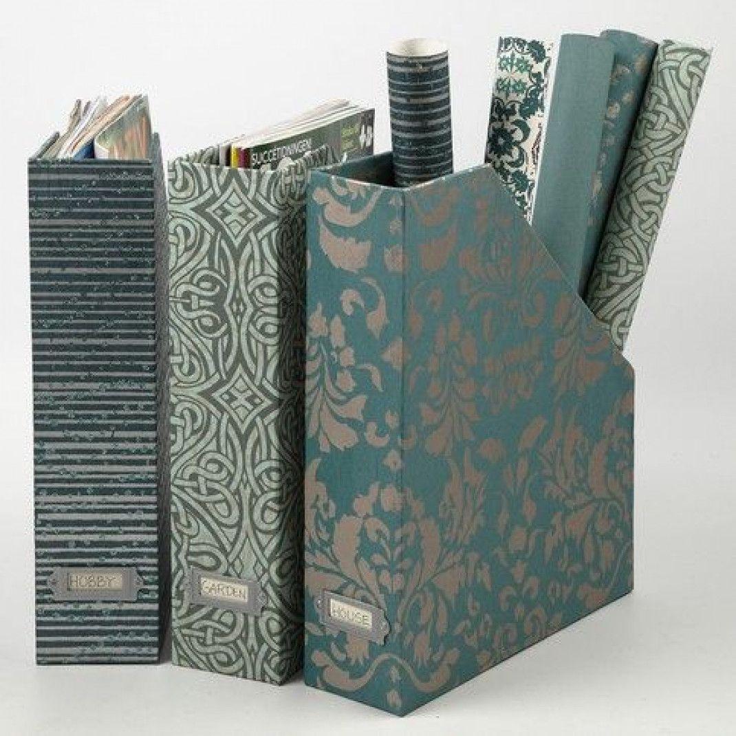 Tidsskriftholder med håndlavet papir |DIY vejledning #julestjernerpapir