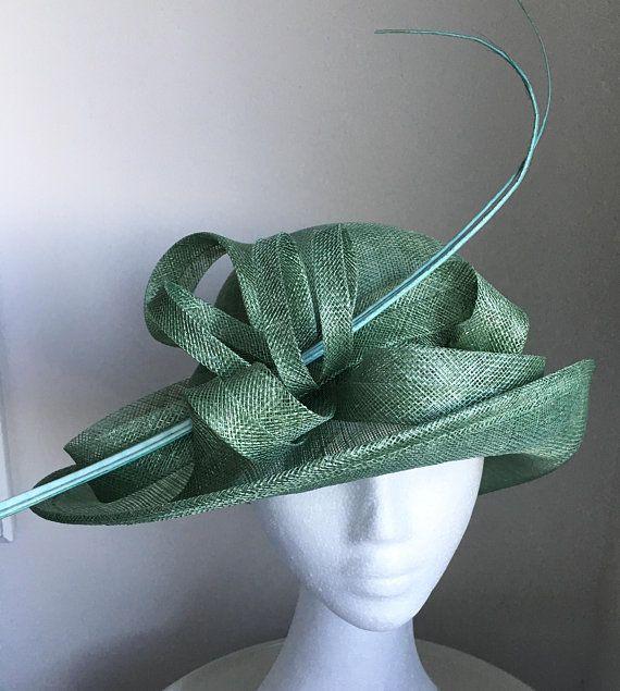 TheHeadwearBoutique on Etsy- Esta Mint  Leaf  Jade Green Kentucky Derby Hat  For Women 31ccd6186b1