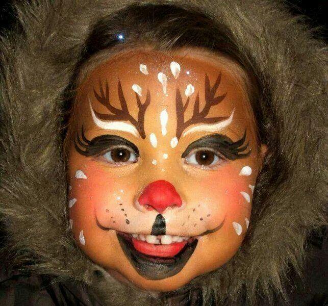 face painting deer one face painting pinterest kerst kerstmis and rendier. Black Bedroom Furniture Sets. Home Design Ideas