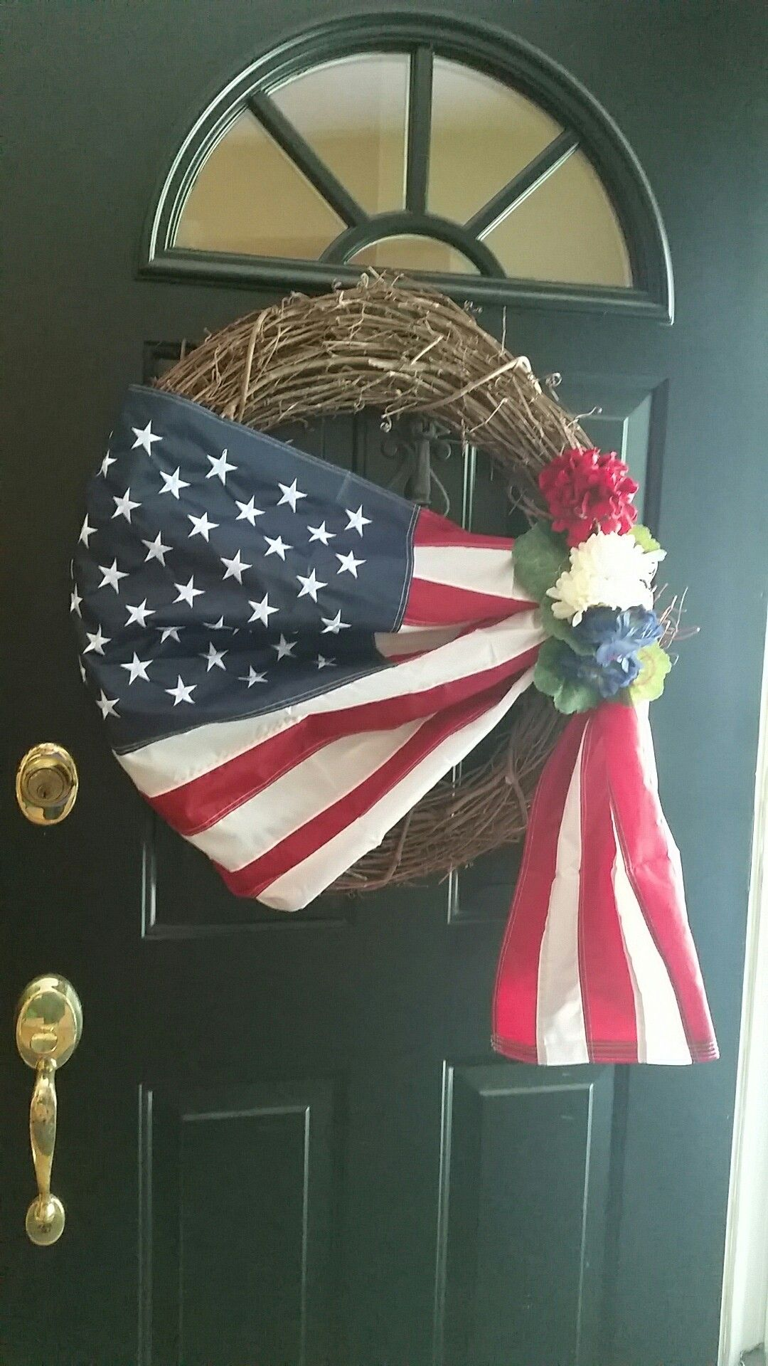 Pinterest inspired 4th of July wreath