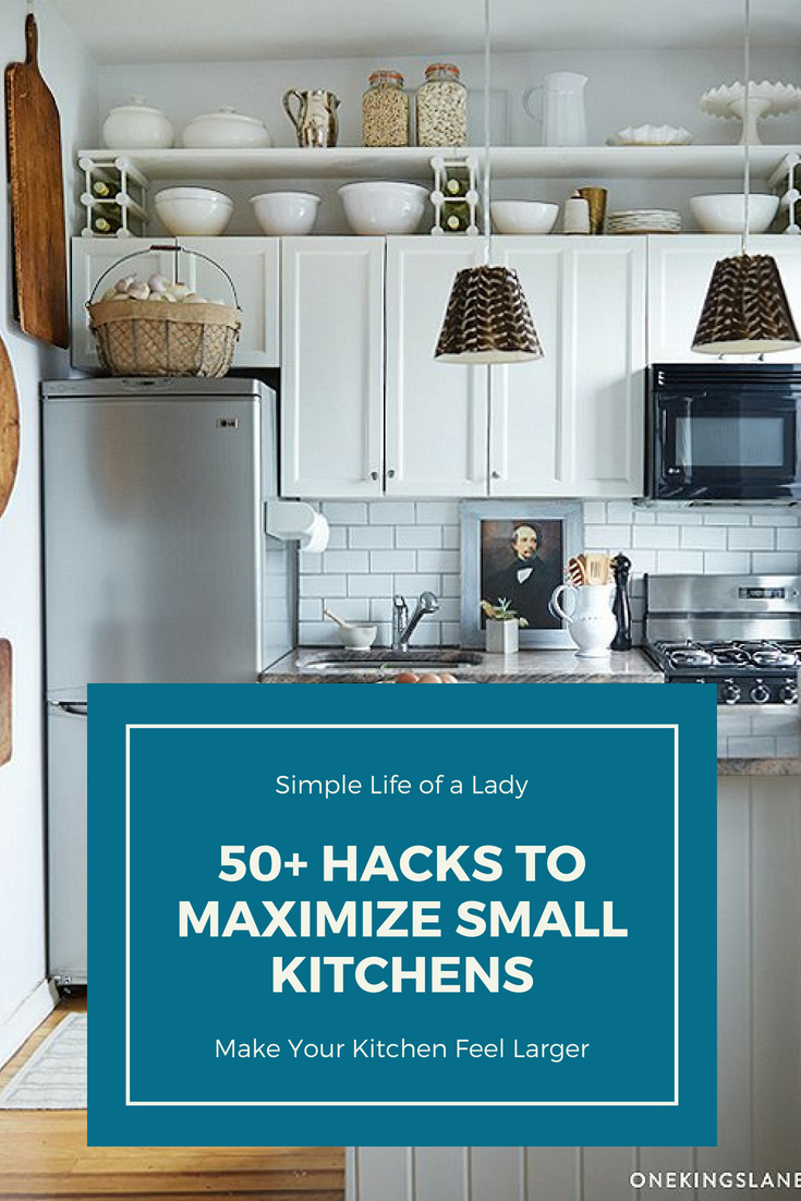 9 Clever Storage Hacks to Maximize Small Kitchens   Small kitchen ...