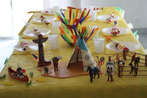 Deco table anniversaire indien bapteme pinterest - Deco table anniversaire enfant ...