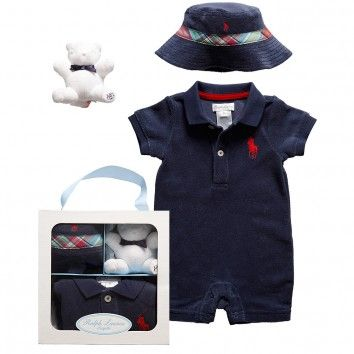 31ed8357e4 Ralph Lauren Baby Boy Clothes | Ralph Lauren Baby Boys Blue Cotton ...