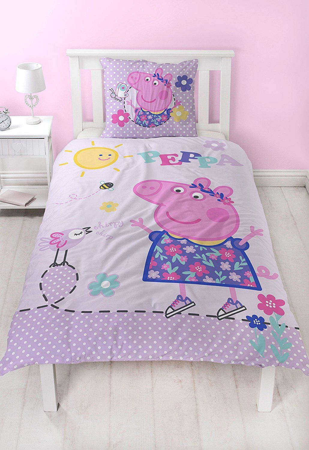 peppa pig flanell m dchen bettw sche wende motiv warm kuschelig 2 tlg kissenbezug 80x80. Black Bedroom Furniture Sets. Home Design Ideas