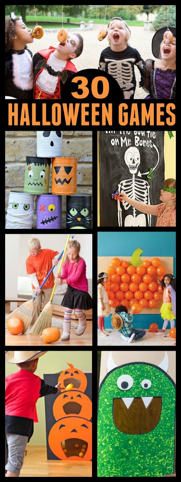 hier findet ihr 30 coole spiele f r die kinder halloween party halloween pinterest. Black Bedroom Furniture Sets. Home Design Ideas