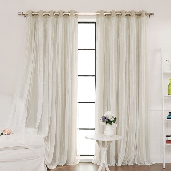 Tulle Blackout Grommet Curtain Panel Joss Amp Main Home