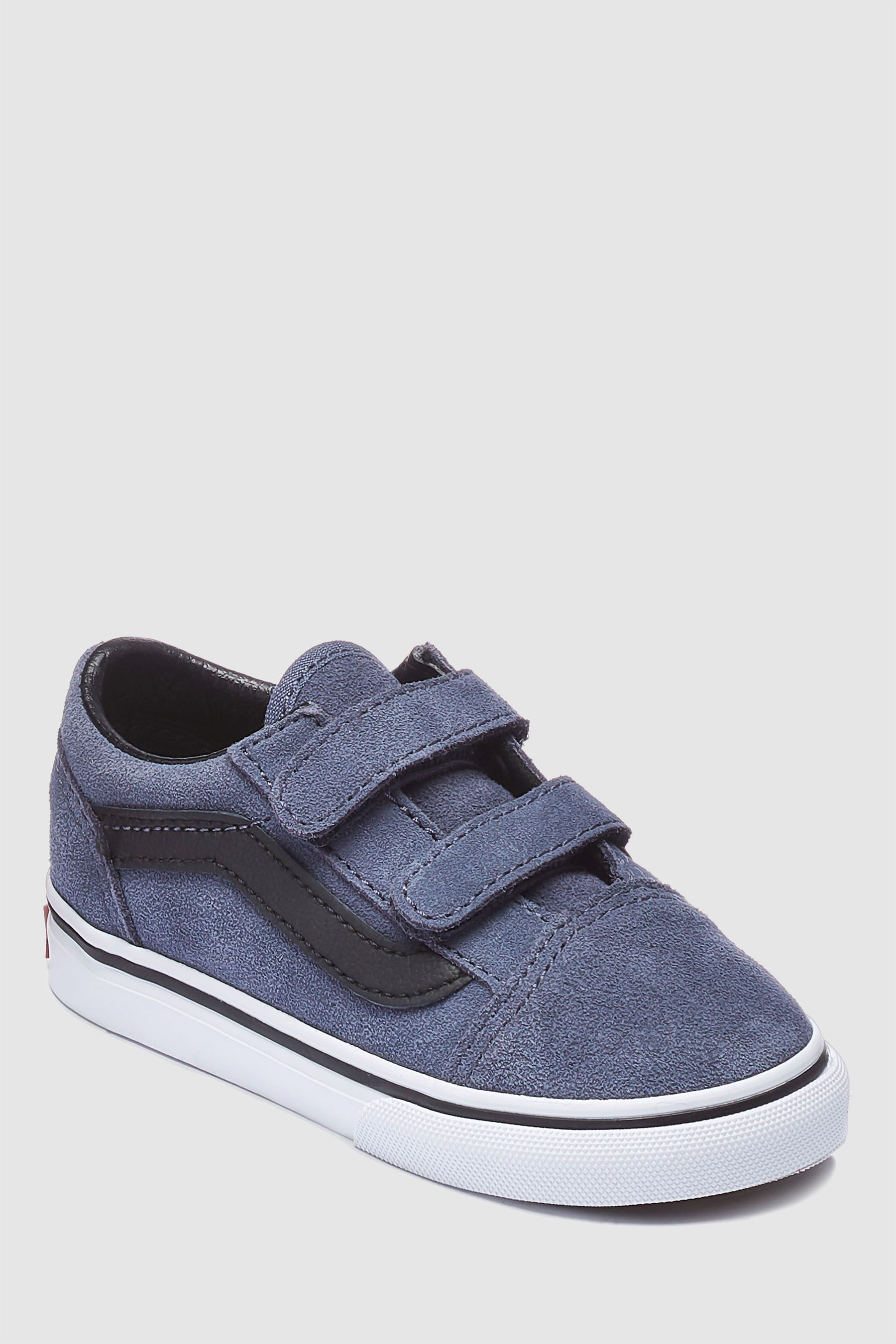 Boys Vans Old Skool Velcro Grey | Boys vans, Buy vans