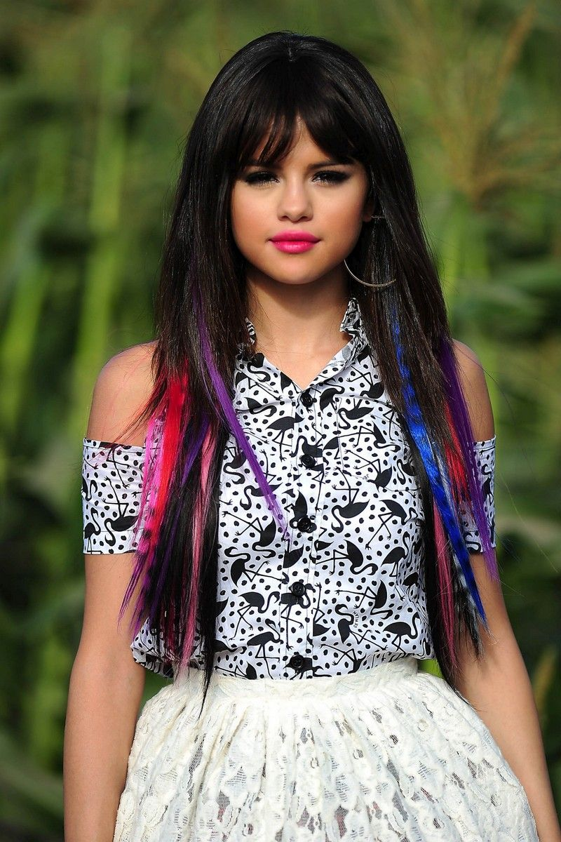Selena Gomez I Would Definitely Put Purple Blue And Pink Hair
