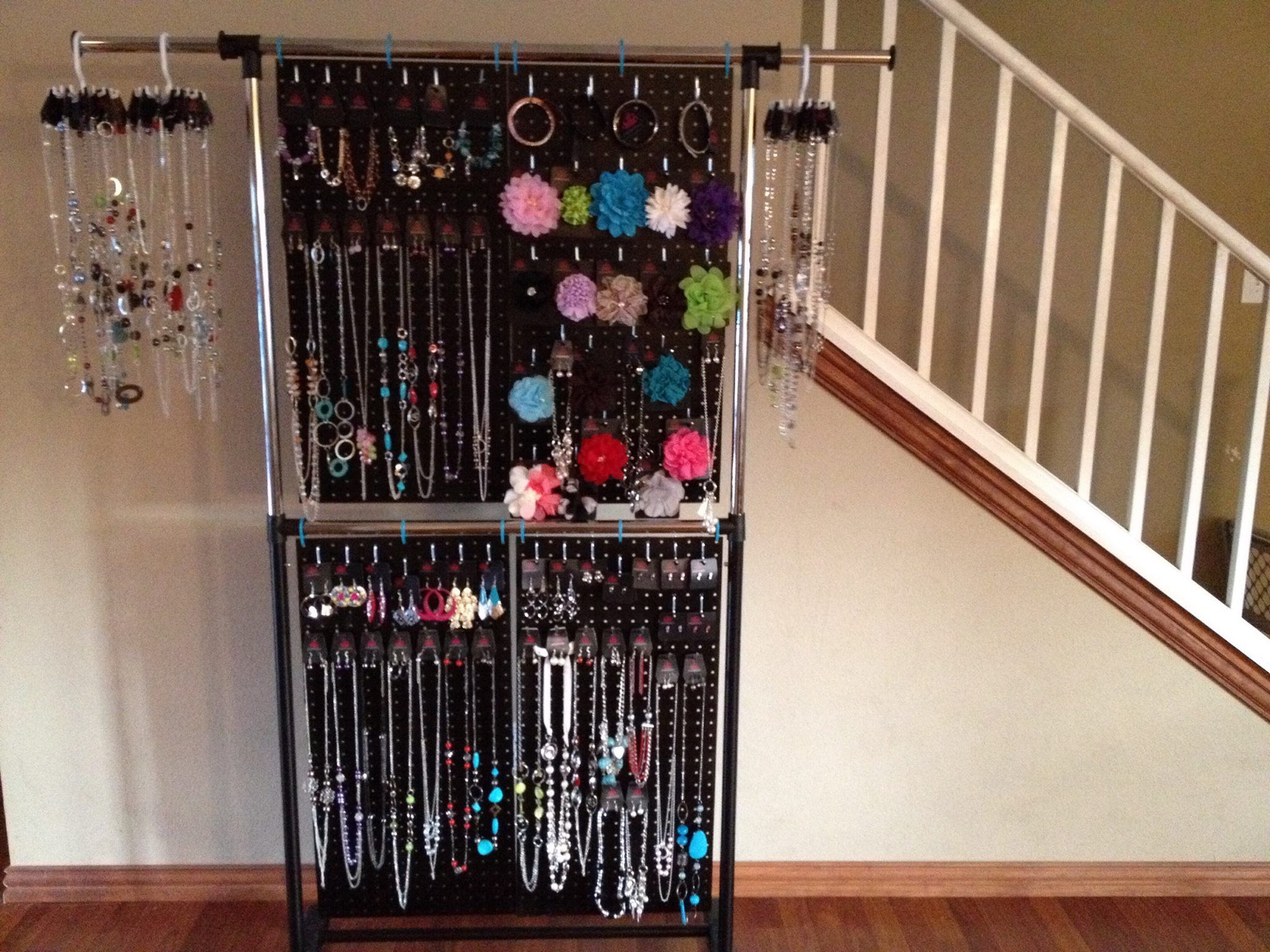 Portrayal Of Make Your Own Pegboard Jewelry Display