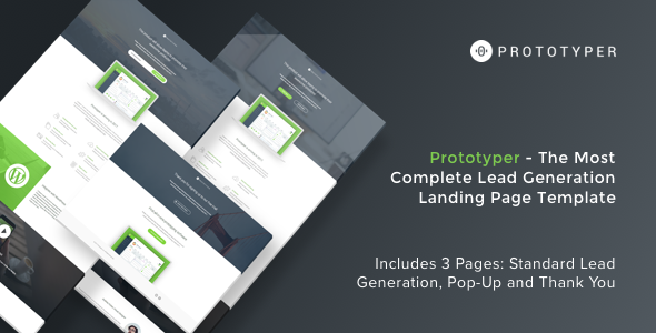 Prototyper - Instapage Lead Generation Landing Page Template | Template
