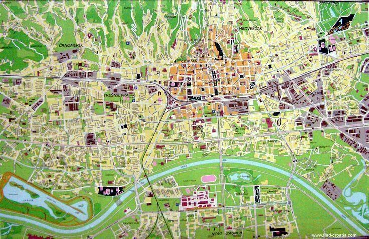 Plan Grada Zagreba Zagreb Zagreb Croatia Croatia Map