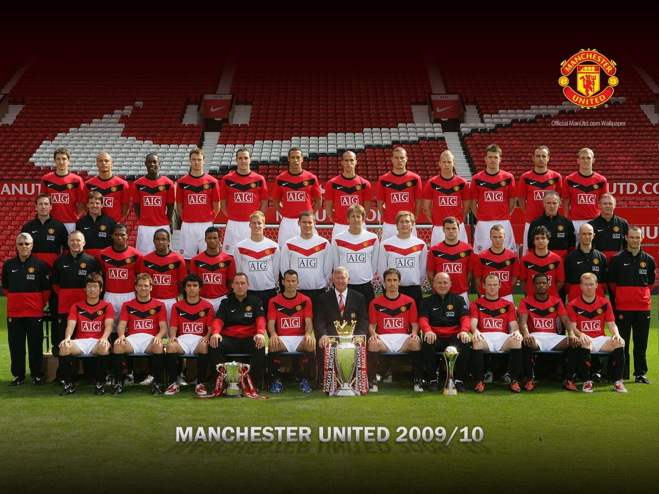 2009 10 Manchester United Squad Manchester United Wallpaper Manchester United Manchester United Team